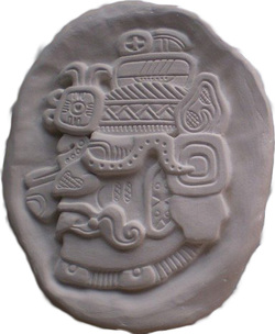 An Aztec God carving