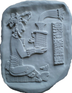 Lord Pacal, 'Shield of the Sun', Aztec ceramic carving
