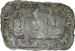 A Mayan lord ancient reproduction carving